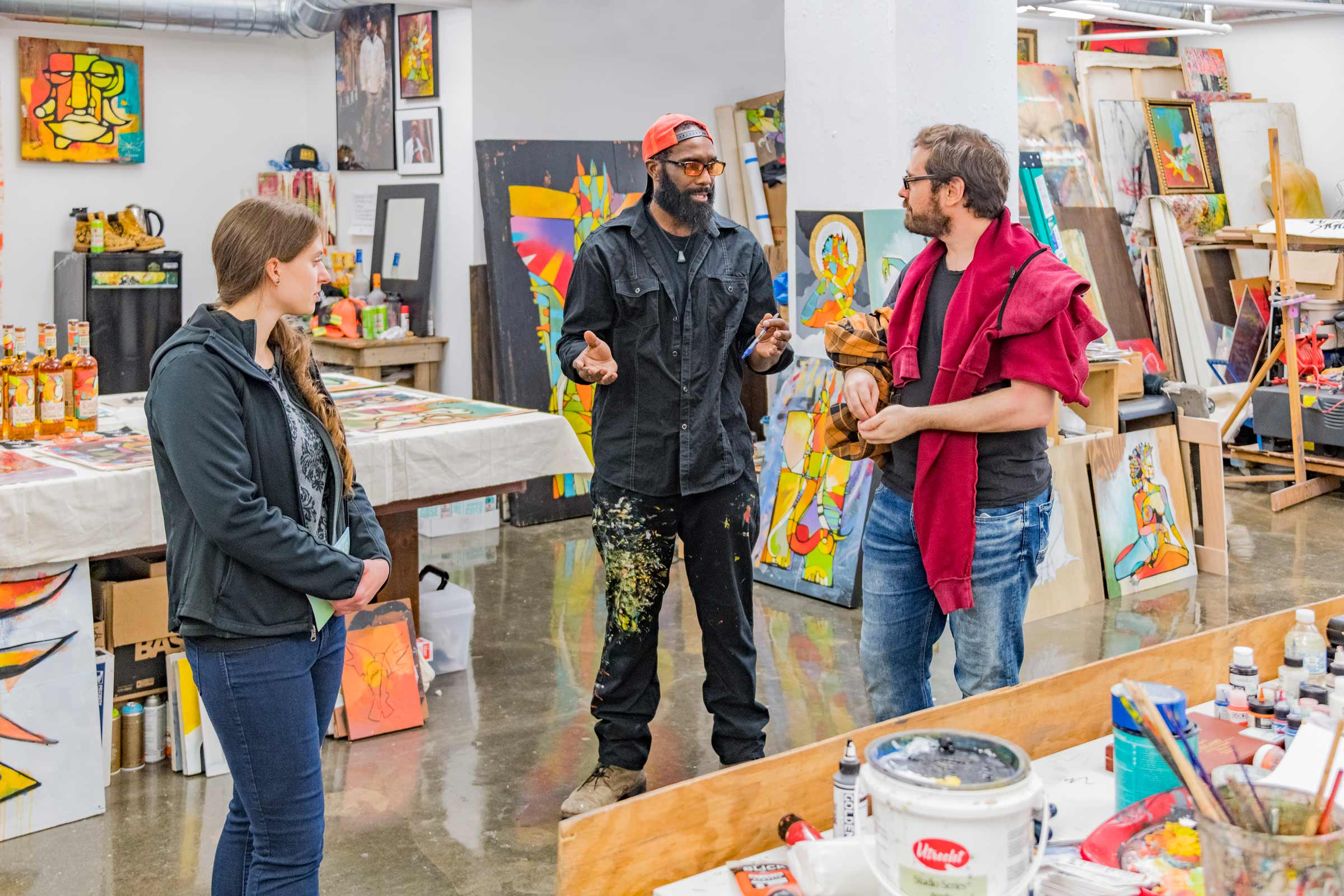 Artists Conversing with Viewers