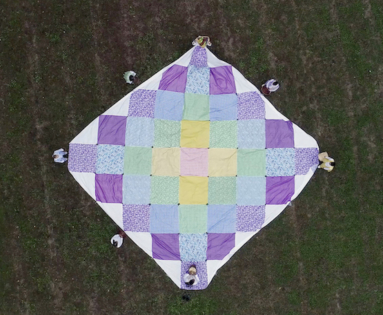 Large quilt seen from above
